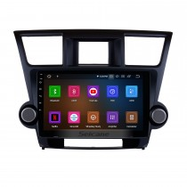 10.1 pulgadas Android 10.0 2008 2009 2010 2011-2014 TOYOTA HIGHLANDER Navegación GPS Bluetooth Radio WIFI USB Reproductor de DVD Compatible con cámara de seguridad DVR OBD2 1080P Video HD TV
