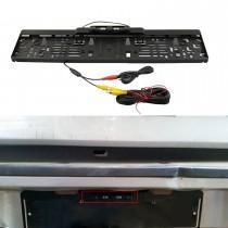 Universal de 170 grados de gran ángulo de visión HD placa de matrícula europea de copia de respaldo de la cámara trasera Rearview Night Vision impermeable Aparcamiento sistema de asistencia