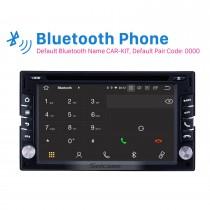 Radio de navegación GPS universal de 6.2 pulgadas Android 10.0 Bluetooth HD Pantalla táctil AUX Carplay Soporte de música 1080P TV digital Cámara de visión trasera OBD2