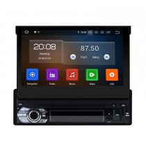 Android 10.0 7 pulgadas Universal One DIN Car Radio GPS Navegación Reproductor multimedia con Bluetooth WIFI Soporte de música Mirror Link SWC DVR 1080P Video