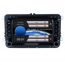 7 pulgadas HD Pantalla táctil 2 Din Universal Radio Reproductor de DVD Navegación GPS Estéreo para coche VW VOLKSWAGEN Teléfono Bluetooth Reproductor multimedia USB SD Soporte Aux IPOD TV digital RDS