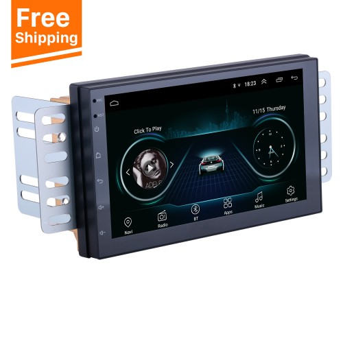 Android 8.1 Universal Radio Multimedia Player GPS Navigation 7 Zoll HD Touchscreen Bluetooth USB Carplay Lenkradsteuerung