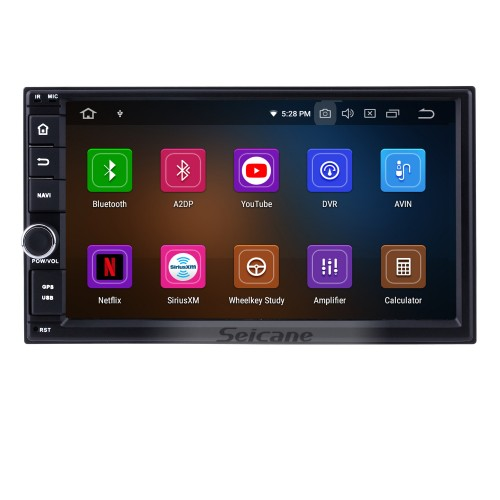 Android 9.0 Universal Autoradio DVD-Player GPS-Navigationssystem mit Audiosystem RDS Bluetooth USB SD Spiegel Link OBD2 WiFi Lenkradsteuerung 1080P Video Digital TV