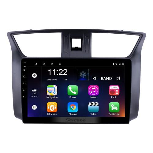 10,1 Zoll 2012-2016 Nissan Sylphy Android 10.0 HD Touchscreen GPS Navi Head Unit Radio USB Bluetooth Unterstützung WIFI Mirror Link DVR OBD2 TPMS Aux