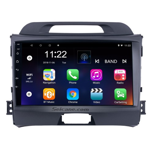 9 Zoll HD 1024 * 600 Touchscreen-Radio für 2010-2015 KIA Sportage Android 10.0 mit GPS-Navigation Audiosystem Bluetooth Musik USB Aux WIFI 1080P TV Spiegel Link DVR