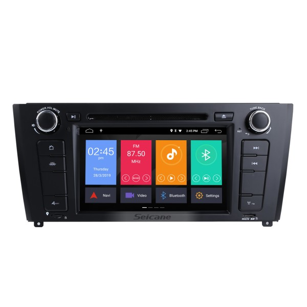 7 Zoll Android 10.0 HD Touchscreen 1024 * 600 2004-2012 BMW 1er E81 E82 116i 118i 120i 130i mit Bluetooth Radio DVD Navigationssystem AUX WIFI Spiegel Link OBD2