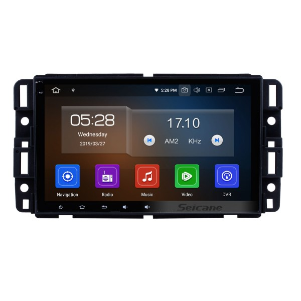 Android 10.0 2007 2008 2009 2010 2011 GMC Yukon 8-Zoll-HD-Touchscreen-Autoradio Head Unit GPS-Navigationsmusik Bluetooth WIFI-Unterstützung 1080P Video-Backup-Kamera Lenkradsteuerung