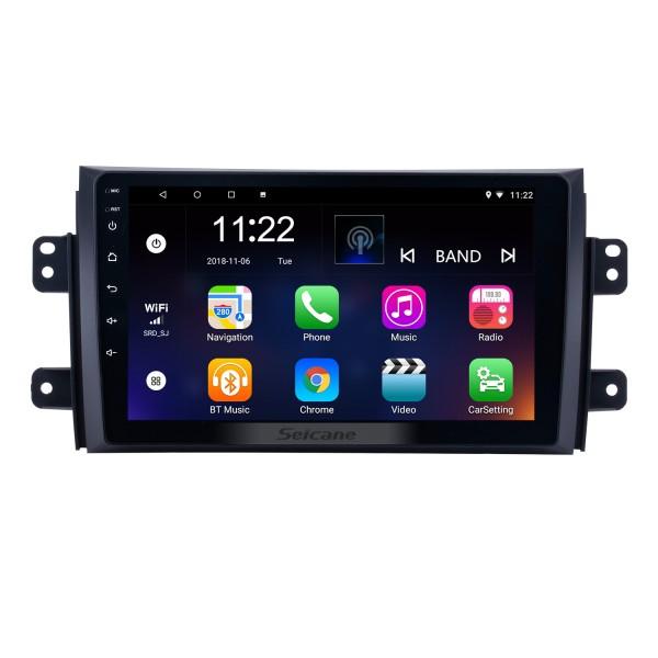 9 Zoll Android 10.0 HD Touchscreen GPS Navigationsradio für 2006-2012 Suzuki SX4 mit Bluetooth Musik WIFI Unterstützung 1080P Video OBD2 DVR