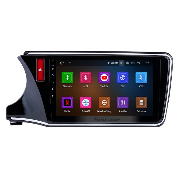 10,1 Zoll Android 9.0 2014-2017 HONDA CITY LHD HD Touchscreen Radio GPS Navigationssystem Bluetooth USB WIFI Spiegel Link Lenkradsteuerung
