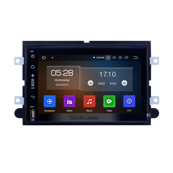 2005-2008 2009 Ford Escape Mustang 7 Zoll Android 9.0 1024 * 600 Radio DVD GPS Navigationssystem Bluetooth WiFi Spiegel Link OBD2 1080P Video