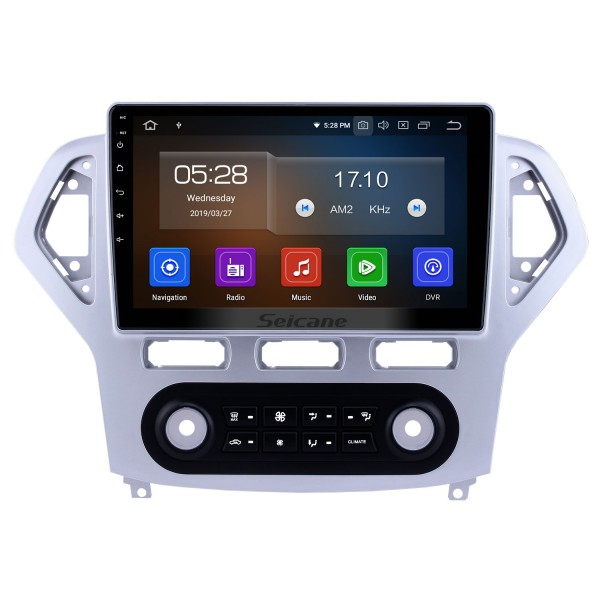 10,1 zoll 2007-2010 Ford Mondeo-Zhisheng Auto A / C Android 9.0 GPS Navigationsradio Bluetooth Touchscreen AUX Carplay unterstützung 1080 P Video