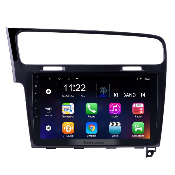 10,1 Zoll 1024 * 600 HD Touchscreen Android 10.0 Radio für 2013 2014 2015 VW Volkswagen Golf 7 GPS Navigationssystem mit 3G WIFI Bluetooth Musik USB Spiegel Link Rückfahrkamera 1080P Video OBD2
