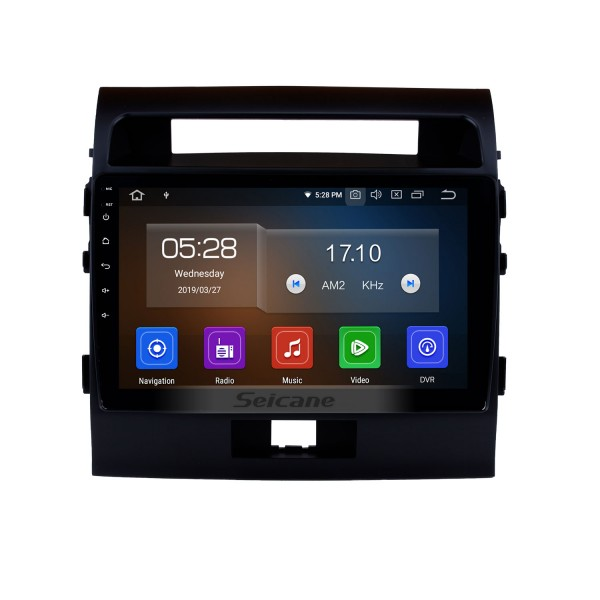 9 Inch Android 4.2 Radio For 2007-2014 Toyota Land Cruiser 200 with 3G WiFi Bluetooth GPS Navigation system Capacitive Touch Screen Built In DVD TPMS DVR OBD II Rear camera AUX Headrest Monitor Control USB SD Video