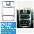 Seicane Doppel-Din-Autoradio-Blende für 2004, 2005, 2006, 2007, 2008, Chrysler Aspen 300C, DVD-Rahmen, CD-Spieler, Verkleidung