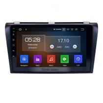 All-in-One-Android 9.0 2004-2009 Mazda 3-Radio-Upgrade mit in Dash GPS-Navigationssystem 1024 * 600 Kapazitiver Multitouch-Bildschirm Bluetooth Musikspiegel Link OBD2 3G WiFi HD 1080 P DVR USB-Backup-Kamera