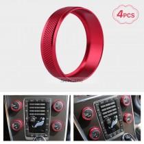 Bunte Klimaanlage Knöpfe Dekoration Kit für 2011-2014 Volvo XC60 S60 V40 S80L Auto Interieur Stereo Audio Ring Abdeckung Kit