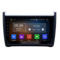 2012 2013 2014 2015 VW Volkswagen POLO Android 9.0 HD 9 Zoll Touchscreen Multimedia Player Autoradio GPS Navigation Bluetooth Musik USB WIFI Lenksteuerung AUX DVR