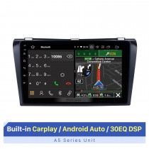 All-in-One-Upgrade für Android 10.0 2004-2009 Mazda 3-Radio mit integriertem Dash-GPS-Navigationssystem 1024 * 600 Kapazitiver Multitouch-Bildschirm Bluetooth-Musik OBD2 3G WiFi HD 1080P DVR USB-Rückfahrkamera