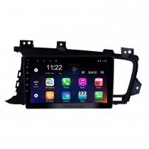 9 Zoll 2011 2012 2013 Kia k5 LHD Android 10.0 HD-Touchscreen-Radio-GPS-Navigationssystem mit Bluetooth-Lenkradsteuerungs-Digital-TV-Spiegel-Verbindungs-Unterstützungskamera TPMS