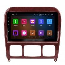 Android 10.0 HD Touchscreen 9-Zoll-Radio für 1998-2005 Mercedes-Benz S-Klasse W220 S280 S320 S350 S400 S430 S500GPS Navigationssystem mit USB WIFI Bluetooth Spiegelverbindung 1080P OBD2 Lenkradsteuerung