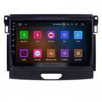 Alles in einem Android 9.0 9 Zoll 2015 Ford Ranger Radio mit GPS-Navigation Touchscreen Carplay Bluetooth USB Unterstützung Mirror Link 1080P Video SWC