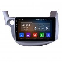 10,1 Zoll Android 9.0 GPS-Radio-Autoradio für 2007-2013 Honda FIT linker Fahrer WIFI Bluetooth Mirror Link HD 1024 * 600 Touchscreen SWC Navigationssystem OBD2 DVR Rückfahrkamera TV USB 1080P Video