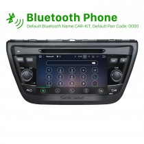 Nachrüst 2013 2014 Suzuki S Cross Android 7.1 Radio DVD player Navigationssystem GPS Spiegel-Verbindung GPS HD 1024*600 touch screen Bluetooth OBD2 DVR Rückfahr kamera TV 1080P Video 4G WIFI Lenkrad-Steuerung USB SD Vier Kern CPU