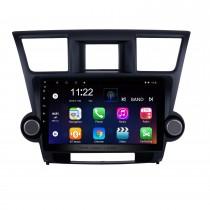 10,1 Zoll Android 10.0 In Dash Bluetooth GPS-Navigationssystem für 2014 2015 Toyota Highlander mit HD 1024 * 600 Touchscreen 3G WiFi-Radio RDS-Spiegelverbindung OBD2 Rückfahrkamera AUX USB SD Lenkradsteuerung