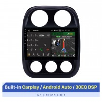 9-Zoll-HD-Touchscreen für 2014-2016 Jeep-Kompass GPS-Navi Android-Auto-GPS-Navigation Unterstützung für Auto-Audiosysteme Unterstützung für geteilte Bildschirme