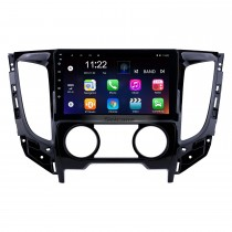 2015 Mitsubishi TRITON (MT) Manuelle Klimaanlage Android 10.0 Autoradio 9 Zoll HD Touchscreen GPS-Navigationssystem Haupteinheit mit USB Mirror Link FM-Musik Bluetooth WIFI-Unterstützung SWC Carplay Backup-Kamera Digital TV