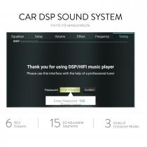 DSP-Car-Audio-Soundsystem für Autoradios der H2 H3-Serie mit 6 Cinch-Ausgängen echte 15 EQ-einstellbare Segmente 3 Arten von Crossover-Modus