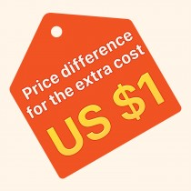 Just for für zusätzliche Kostenpreis Differenz US $ 1