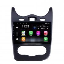 Für 2014 Renault Sandero Radio 10,1 Zoll Android 10.0 HD Touchscreen GPS-Navigationssystem mit Bluetooth-Unterstützung Carplay