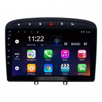 Aftermarket 9 Zoll Android 10.0 Autoradio für 2010-2016 PEUGEOT 408 mit GPS-Navigation Bluetooth-Autoradio-Kopfeinheit-Touchscreen-Spiegel-Link OBD2 3G WiFi-Video-USB-SD