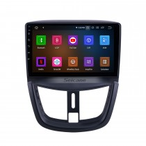 OEM 9 Zoll Android 10.0 für 2008 2009 2010-2014 Peugeot 207 Radio Bluetooth AUX HD Touchscreen GPS Navigation Carplay Unterstützung TPMS