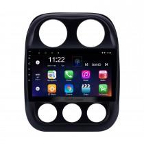 2010-2016 Jeep Kompass Android 10.0 GPS-Navigationssystem 10.1 Zoll HD Touchscreen Radio Bluetooth Spiegel-Verbindung Wlan USB Unterstützung Lenkradsteuerung 3G Carplay Rückansicht