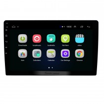 10,1 Zoll Android 9.1 Universal GPS Navigation HD 1024 * 600 HD Touchscreen Bluetooth Car Audio System Unterstützung Mirror Link 3G WiFi Backup-Kamera DVR DAB + Lenkradsteuerung