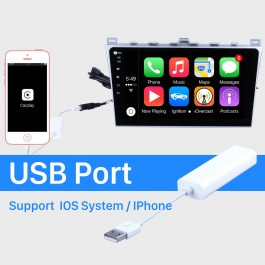 Plug and Play Carplay Dongle USB Para Android Car Radio Support IOS IPhone Car touch screen control Siri Microfone de controle de voz