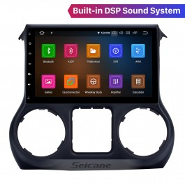 Android 10.0 10.1 Inch 2.5D IPS Touchscreen Radio Para JEEP Wrangler 2011 2012 2013 2014 2015 2016 2017 Bluetooth Music GPS Navigation Head Unit Suporte DSP Carplay DAB + OBDII USB TPMS WiFi Controle do volante