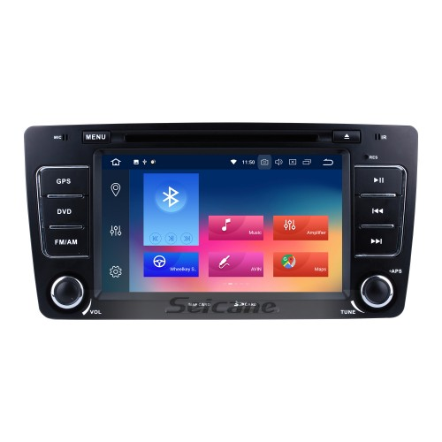 Android 4.4.4 Radio GPS Navigation System for 2005-2008 2013-2016- SKODA OCTAVIA with DVD Player Bluetooth Touch Screen 3G WiFi Mirror Link OBD2 Video DVR AUX Rearview Camera