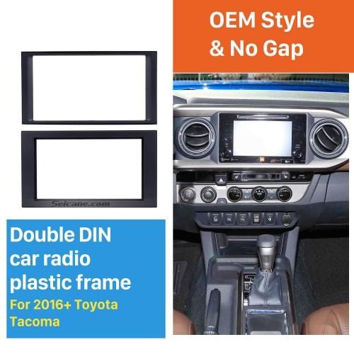 Últimas Double Din 2016+ Toyota Tacoma Radio Car Fascia CD guarnição estrutura de instalação Stereo Painel do Jogador