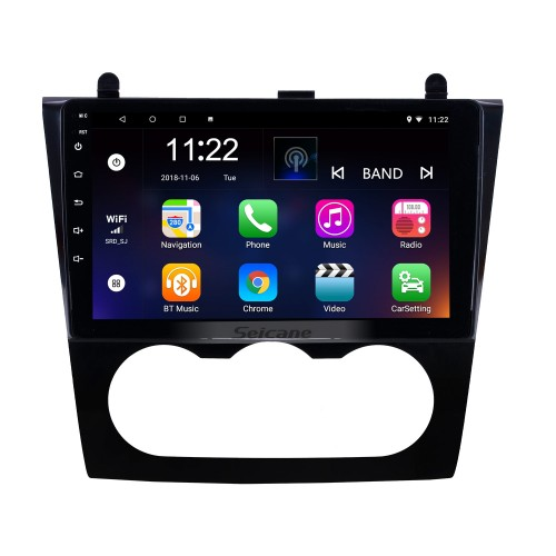 9 polegadas HD Touchscreen Android 10.0 Sistema de navegação por rádio para 2008-2012 Nissan Teana ALTIMA Manual A / C Reprodutor multimídia com WIFI FM USB Suporte de música Bluetooth TV digital SWC TPMS