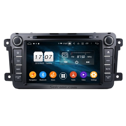 2012 2013 Mazda CX-9 Radio DVD player Android 4.4.4 GPS navigation system with Bluetooth HD touch screen Mirror link OBD DVR USB SD 3G WIFI Rear view camera TV IPOD Quad-core CPU 16G Flash