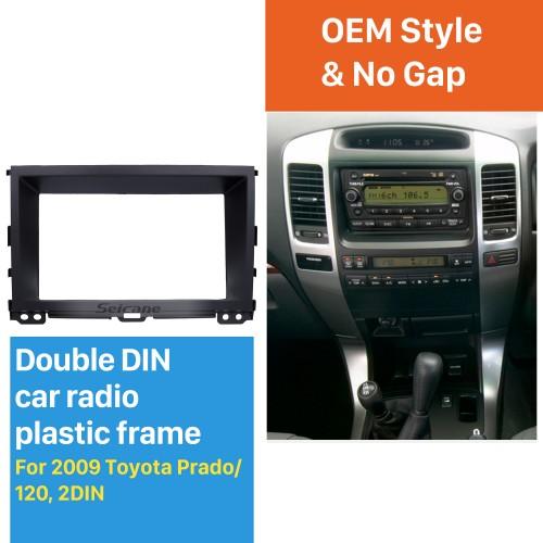 Black Double Din 2009 Toyota Prado 120 Car Rádio Fascia CD Trim Painel Painel Painel de Estéreo
