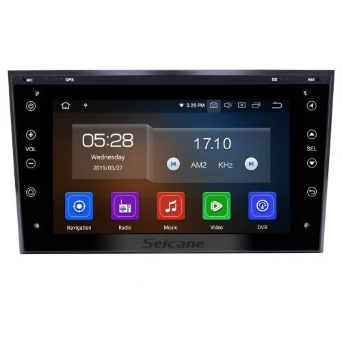 Android 10.0 2006-2011 OPEL Corsa HD Tela sensível ao toque Unidade principal de rádio com navegação GPS Sistema de áudio Bluetooth Música USB WIFI 1080P Vídeo TV digital