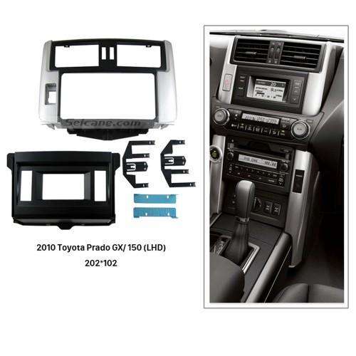 Best 2 Din 2010 Toyota Prado GX Radio 150 LHD Car Fascia Stereo Instalar traço Painel Kit Quadro Mount