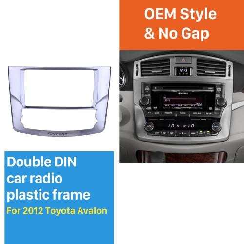 Din duplo de 9 polegadas para 2012 Toyota Avaion Fascia Silver Frame Dash Kit de montagem em painel