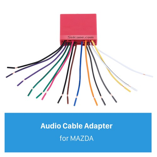 Adaptador do harness da fiação do som do cabo audio para a família de MAZDA (OLD) / Mazda 6 / Mazda 3 / MAZDA PREMACY (OLD) / Mazda 323