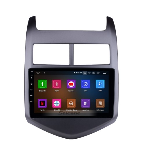 Android 4.4.4 Radio GPS Navigation System for 2011-2016- Chevy Chevrolet AVEO with DVD Player Bluetooth Touch Screen 3G WiFi Mirror Link OBD2 Video DVR AUX Rearview Camera