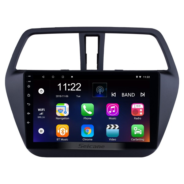 Android 8.1 9 polegada 2014-2017 Suzuki S-Cross SX4 HD Touchscreen Rádio Navi GPS Bluetooth suporte OBD2 DVR 3G WIFI SWC TPMS